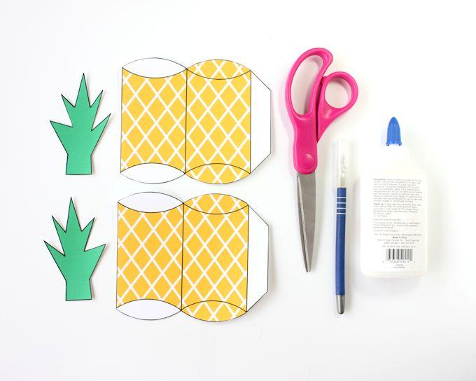 free printable pineapple gift box