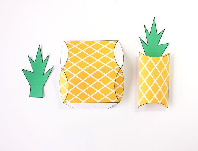 free printable pineapple gift boxes