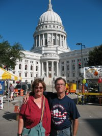 Us in the square in Madison