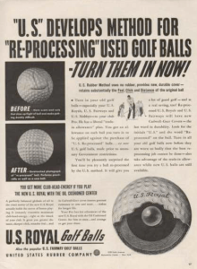 US Royal Golf Balls Ad 1942