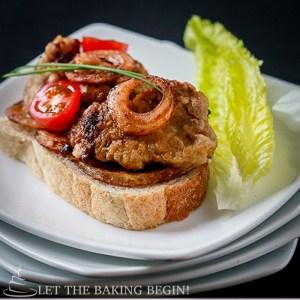 Fried Chicken Liver & Onion Rings – Куринная Печень и Луковые Колечки –