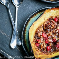 Acorn Squash with Walnuts & Cranberry