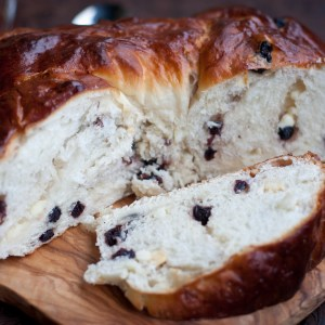 White Chocolate & Blueberry Bread Wreath