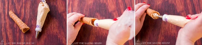 Light & Crispy Wafers filled w/ Dulce de Leche  {Вафельные Трубочки} |By @Letthebakingbgn | LetTheBakingBeginBlog.com