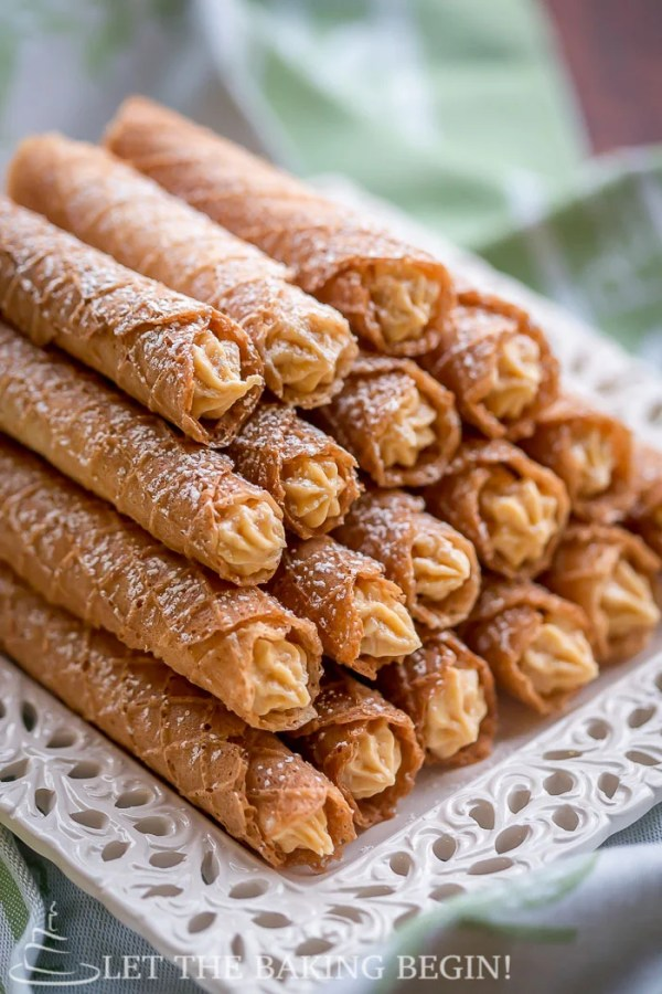 Light & Crispy Wafers filled w/ Dulce de Leche {Вафельные Трубочки} |By @Letthebakingbgn | LetTheBakingBeginBlog.com
