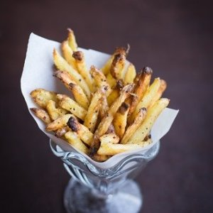 Cracked Pepper Oven Roasted Fries