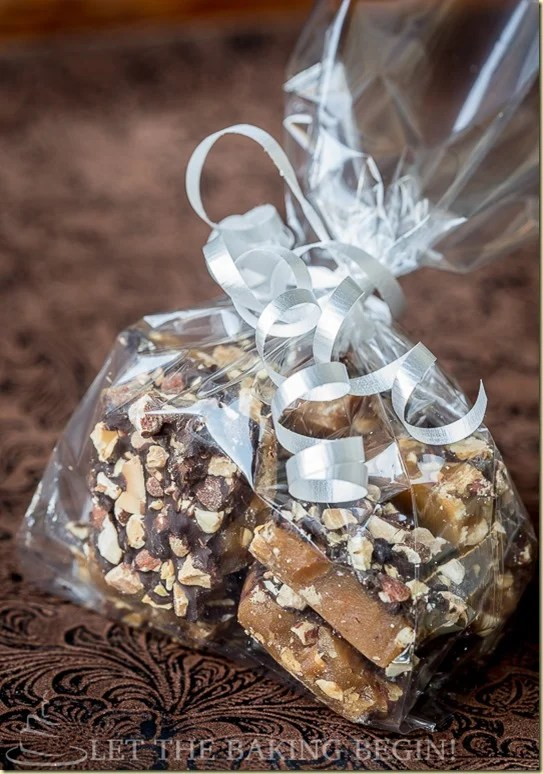 Buttery Toffee, generously layered with Dark Chocolate & Sprinkled with Almonds.