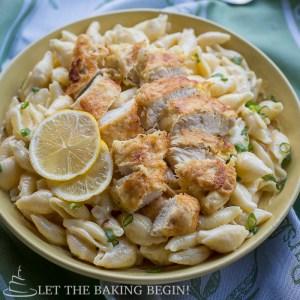 Chicken Tenders w/ Creamy Garlic Pasta Shells