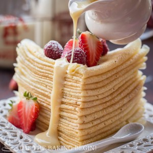 Choux Pastry Buttermilk Crepes