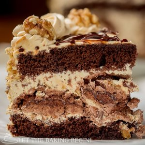 Chocolate Kiev Cake {Chocolate, Walnuts, Meringue & Dulce de Leche}