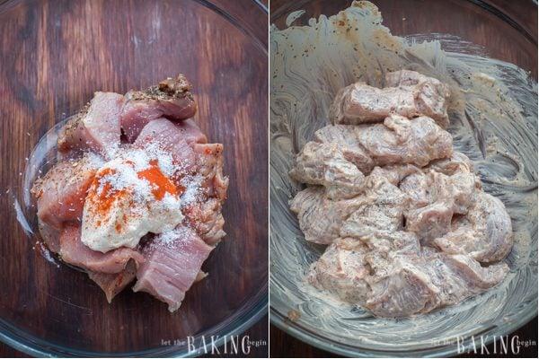 30 minute meal - Kebob Style Pork and Vegetables   Let the Baking Begin