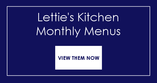 Monthly Menus from Letties Kitchen