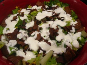 Layered Pita Eggplant Salad with Yogurt Dressing « The Levantess
