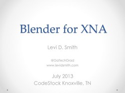 Blender for XNA