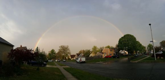 Rainbow Makes Tuesday Evening Appearance Over Levittown