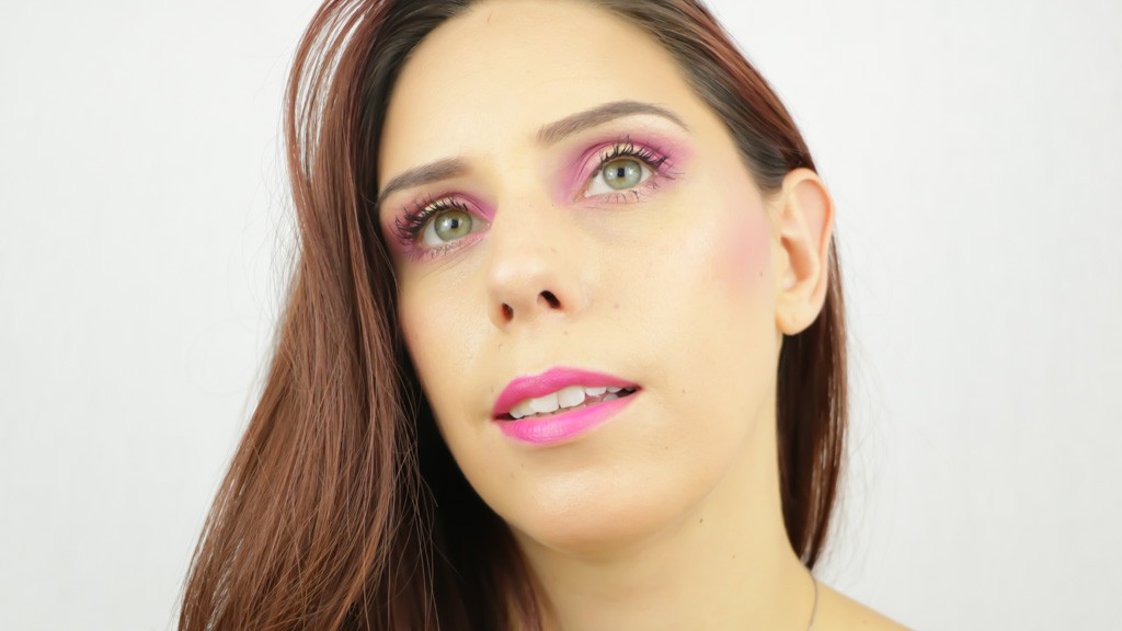 Monday Shadow Challenge maquillage Fushia