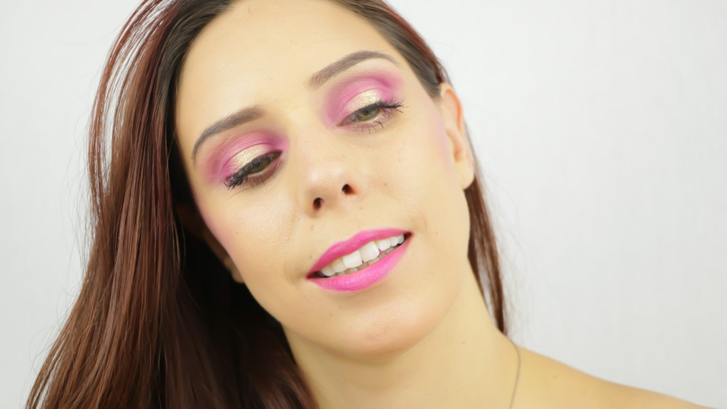 Monday Shadow Challenge maquillage Fushia-2