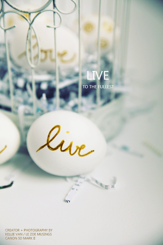 DIY Live Love Laugh Easter Eggs