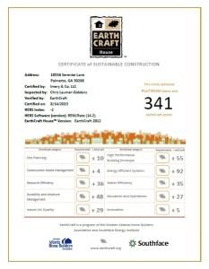 EarthCraft House Platinum Certified