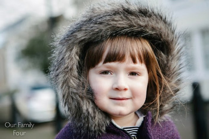 Furry Plum Coat at Our Family Four 26