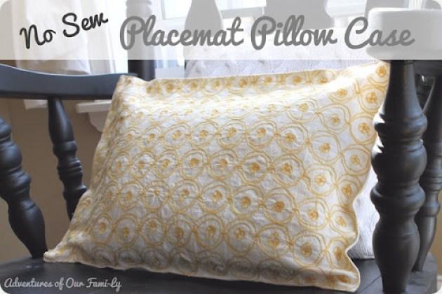 no sew pillowcase using velcro and glue gun