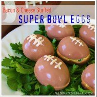 Super Bowl Eggs – Bacon & Cheese Stuffed