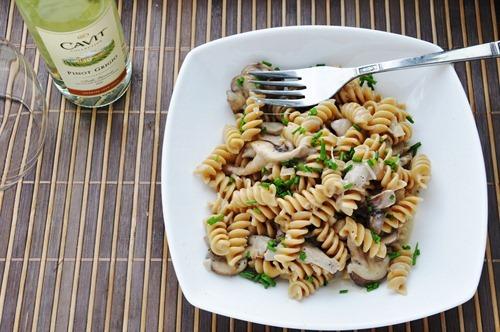 creamy mushroom pasta 076