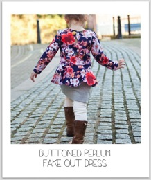 Pretty in Peplum Dress at Our Family Four 1b