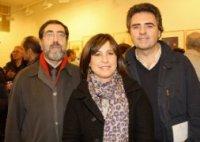FOTO DE PEDRO URRESTI PARA LA MIRILLA. Navidad 2008, exposición en Akros Gallery: Richard, Maite Perdices, Inigo Sarria.
