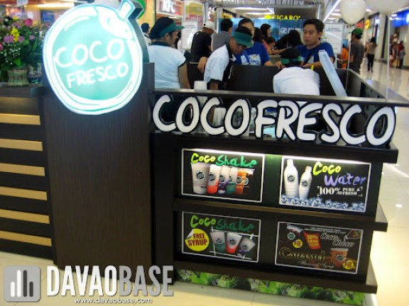 Coco Fresco at SM City Davao offers Coco Shake and Coco Water