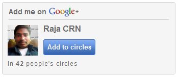 How To Create Google+ 'Add to Circles' widget for Blogs