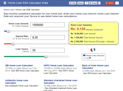 Home Loan Emi Calculator Deal4loans | Autos Post