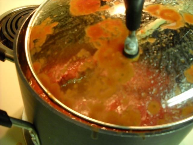 splattering sauce