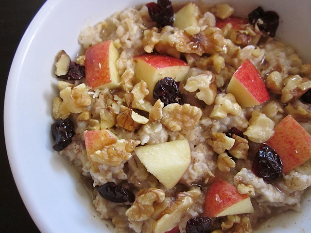 Autumn Fruit and Nut Oatmeal