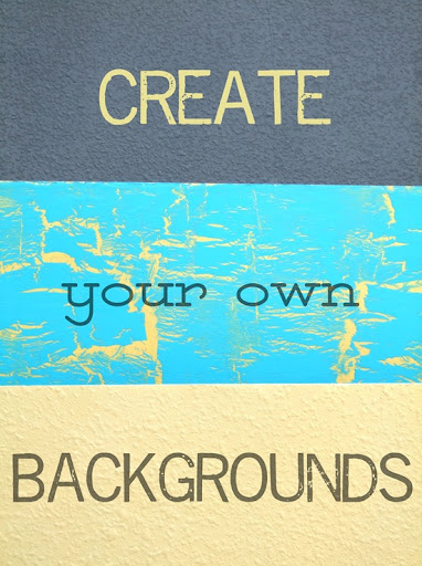 Create Your Own Backgrounds for Your Pics