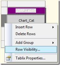 Row visibility