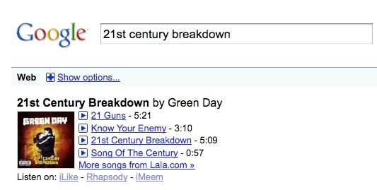 Google Music OneBox