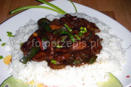 Kurczak po syczuańsku wok srednie orientalna kurczak i drob danie glowne  przepis foto