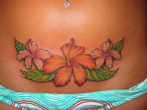 Hawaiian Flowers Tattoos