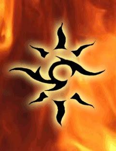 tribal sun tattoos designs
