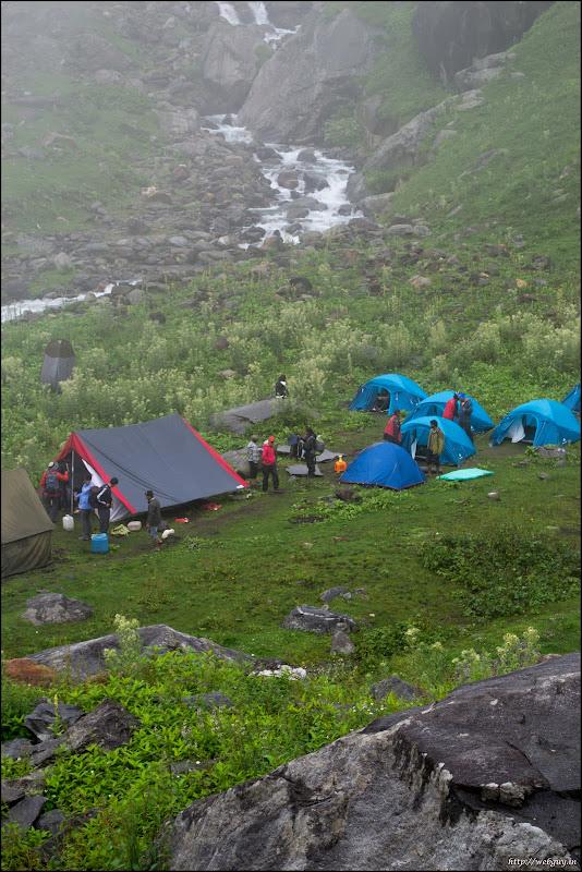 Camp during Hampta Pass Trek Chikka
