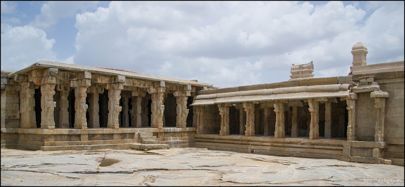 Temple on the other side of the court-yard - Lepakshi