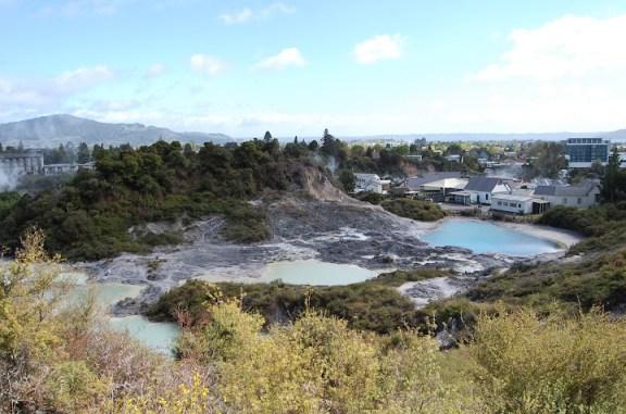 Whakarewarewa village in Rotorua