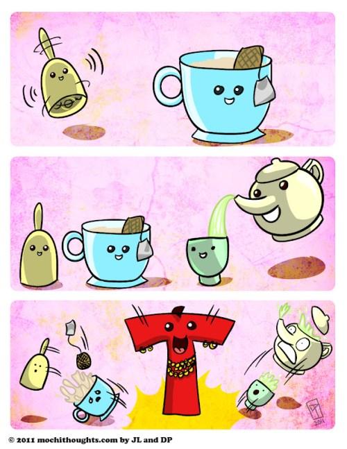 Cute Food Comic, Tea Time