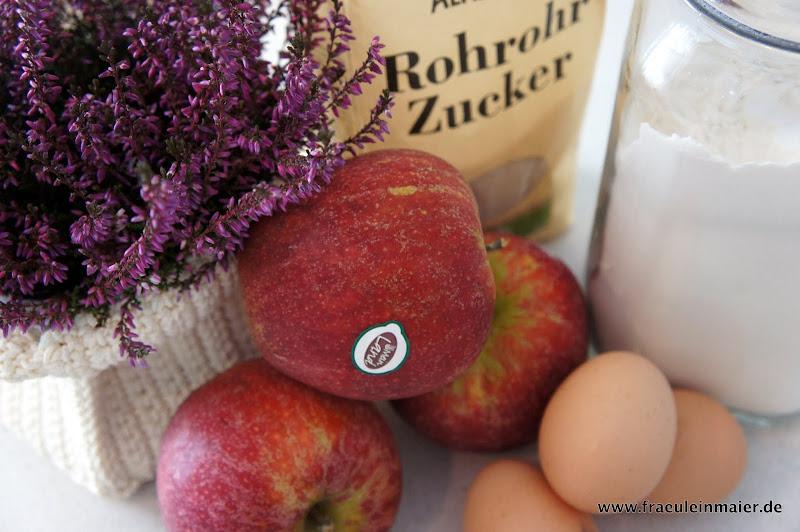 Äpfel, Eier, Mahl, Zucker