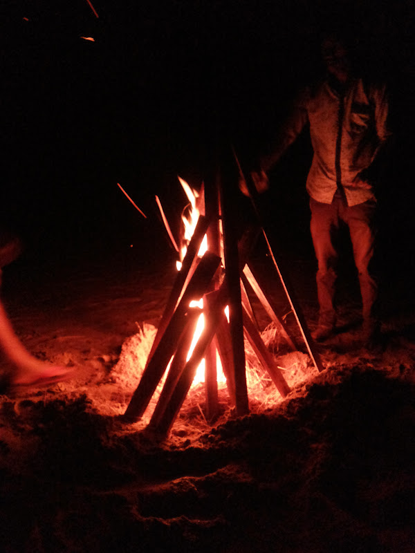 bonfire at the Paradise Beach, Gokarna