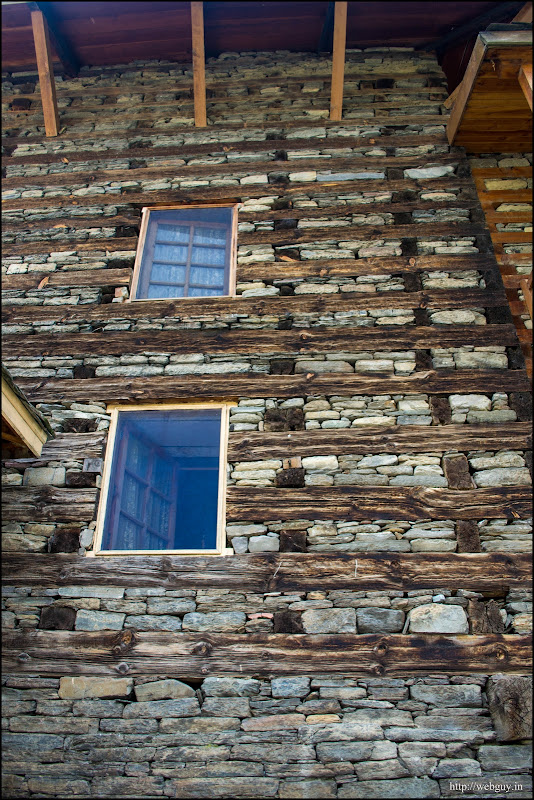 Wood and stone architecture Naggar castle