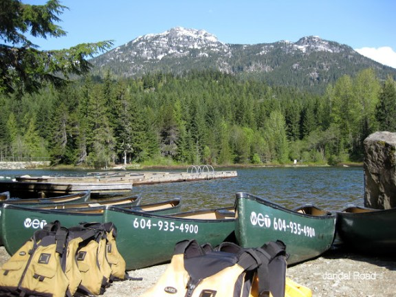 Whistler Alta Lake canoeing