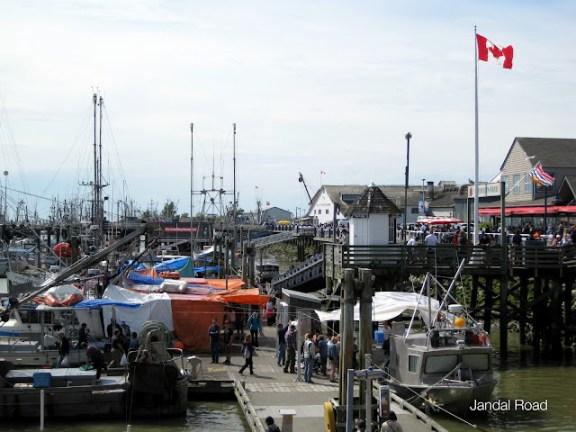 Boats in Steveston, Richmond, BC