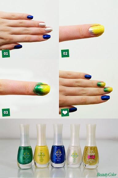 Unhas Copa Brasil Esmaltes BEauty Color
